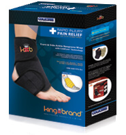 King Brand Front and Side ColdCure® Ankle Wrap Shop Product Box