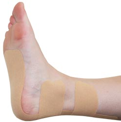 King Brand® Beige Support Tape Applied to a Foot