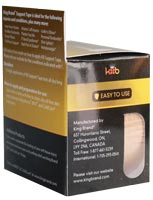 King Brand® Packaged Pre-cut Beige Tape Roll