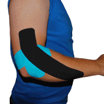 King Brand Elbow Injury Support Tape Taping