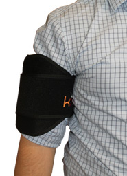 A Person Wearing a King Brand Leg ColdCure Wrap on Their Bicep