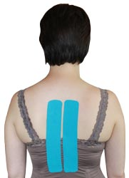 King Brand Middle Back Blue Tape