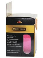 King Brand® Packaged Pre-cut Pink Tape Roll