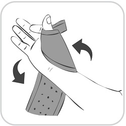 How to put on a King Brand® ColdCure® Wrist Wrap