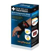 King Brand® ColdCure® Wrist Wrap Shop Product Box Image