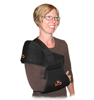 A Person Wearing a King Brand Accessory Sling For Comfortable Wrap Use