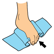 Foot Tendonitis Exercises Towel Scrunches