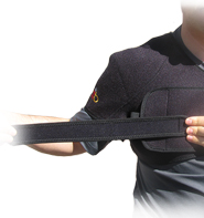 King Brand Shoulder Wrap Used with Accessory Strap for More Comfort and a Tighter and More Secure Fit Front View